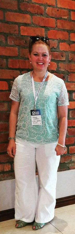 Chrisna Viljoen, attending the Global Leadership Summit, 2019